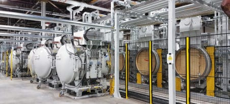 high volume low pressure carburizing furnaces - Four Multi Chambres de cémentation basse pression | ECM Technologies